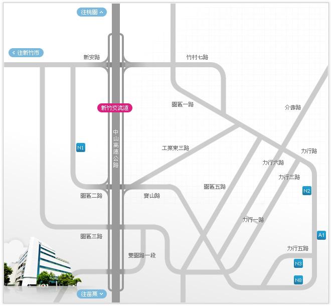 晶元光电-竹科厂区地图
